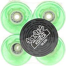 Зеленые колеса для лонгборда вираж mint led blue 83a 59 mm