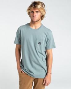 Серый мужская футболка stacked