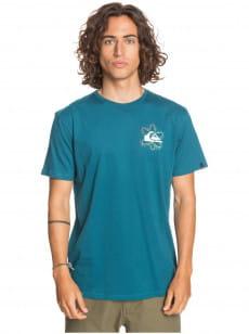 Бирюзовый мужская футболка cosmic sunset