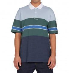 Синее мужская рубашка-поло rally stripe
