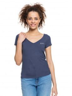 Синий женская футболка tropic time a