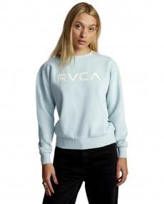 Голубой женский свитшот big rvca