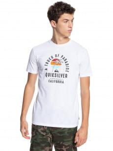 Белый мужская футболка quiet hour