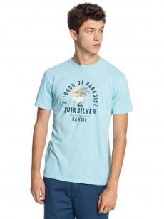 Голубой мужская футболка quiet hour