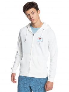 Белый мужская толстовка на молнии cardiff hoody zip