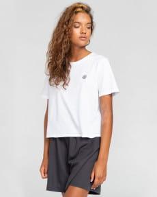 Оранжевый женская футболка positivity crop
