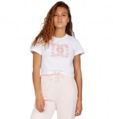Белый женская укороченная футболка star