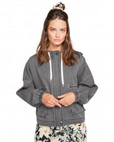Серый женская спортивная куртка spring