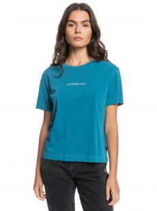 Синий женская футболка quiksilver womens