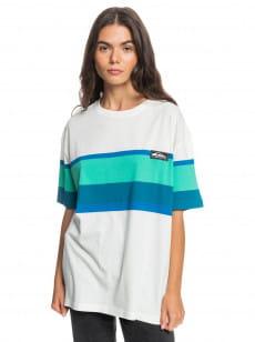 Белый женская футболка quiksilver womens surf heritage