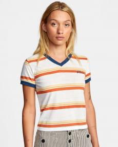 Синий женская футболка big distance stripe