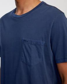 Синий мужская футболка с карманом на груди ptc 2 pigment