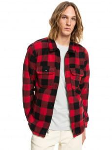 Красный флисовая рубашка с длинным рукавом tolala allover
