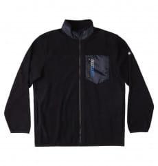 Черный свитшот с воротником на молнии rogue