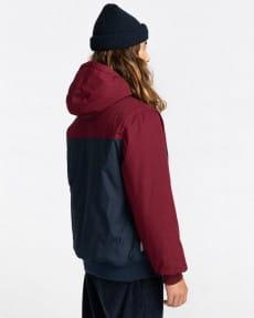 Бордовый мужская водонепроницаемая куртка wolfeboro dulcey two tones