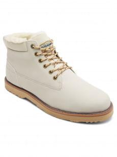 Белый зимние кожаные ботинки mission v