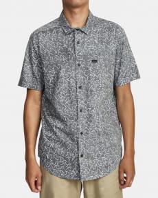 Голубой мужская рубашка с короткими рукавами oblow waves