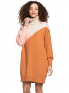 Бежевый платье с длинным рукавом full of colours