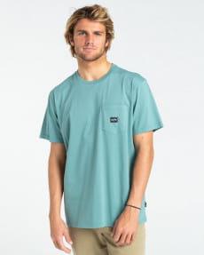 Бирюзовый мужская футболка stacked