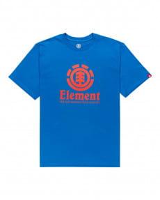 Синий мужская футболка vertical