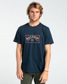 Синий мужская футболка arch