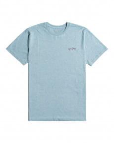 Голубой мужская футболка arch wave