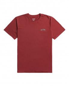 Бордовый мужская футболка arch wave
