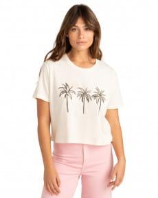 Белый женская футболка three palms