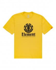 Желтый мужская футболка vertical