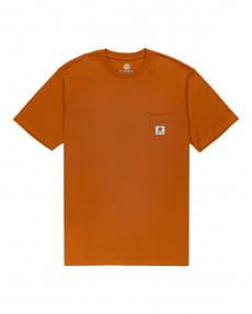 Темно-синий мужская футболка basic label