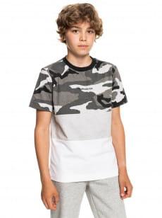 Серый детская футболка из органического хлопка essentials block