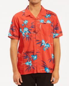 Красный мужская рубашка с короткими рукавами bud vacay
