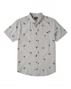 Серый мужская рубашка с короткими рукавами sundays mini
