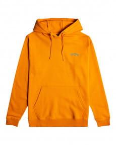Оранжевое мужское худи arch wave