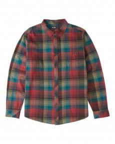 Красный мужская фланелевая рубашка coastline