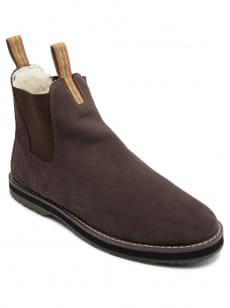Белый зимние замшевые ботинки bogan