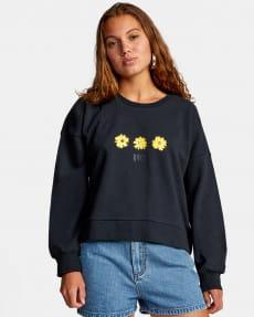 Бирюзовый женский свитшот wildflower